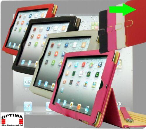"""/""""Leder Smart Cover 360°/"""" Ständer Schutzhülle für iPad 2 in 4 Farben"""