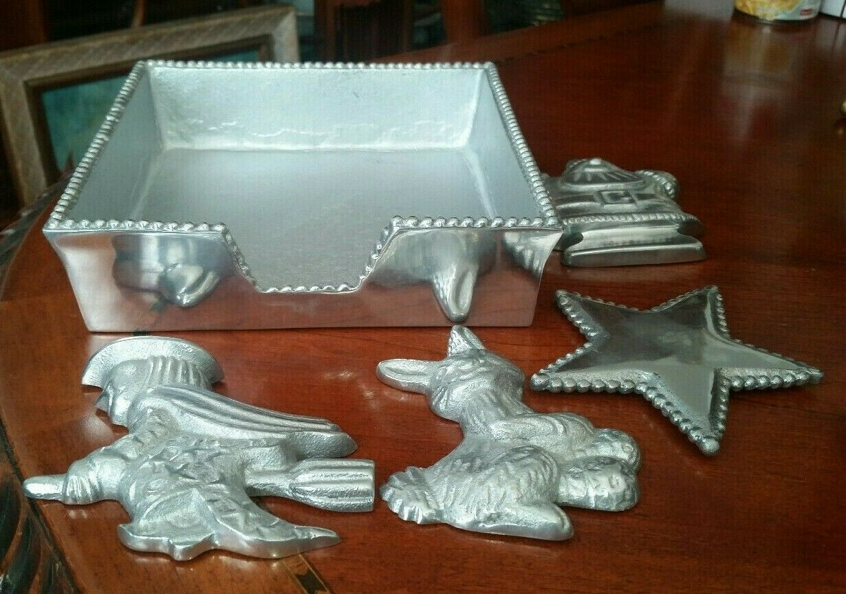 Beatriz Ball Metal Napkin Holder with 4 Different Weights Lot of 5