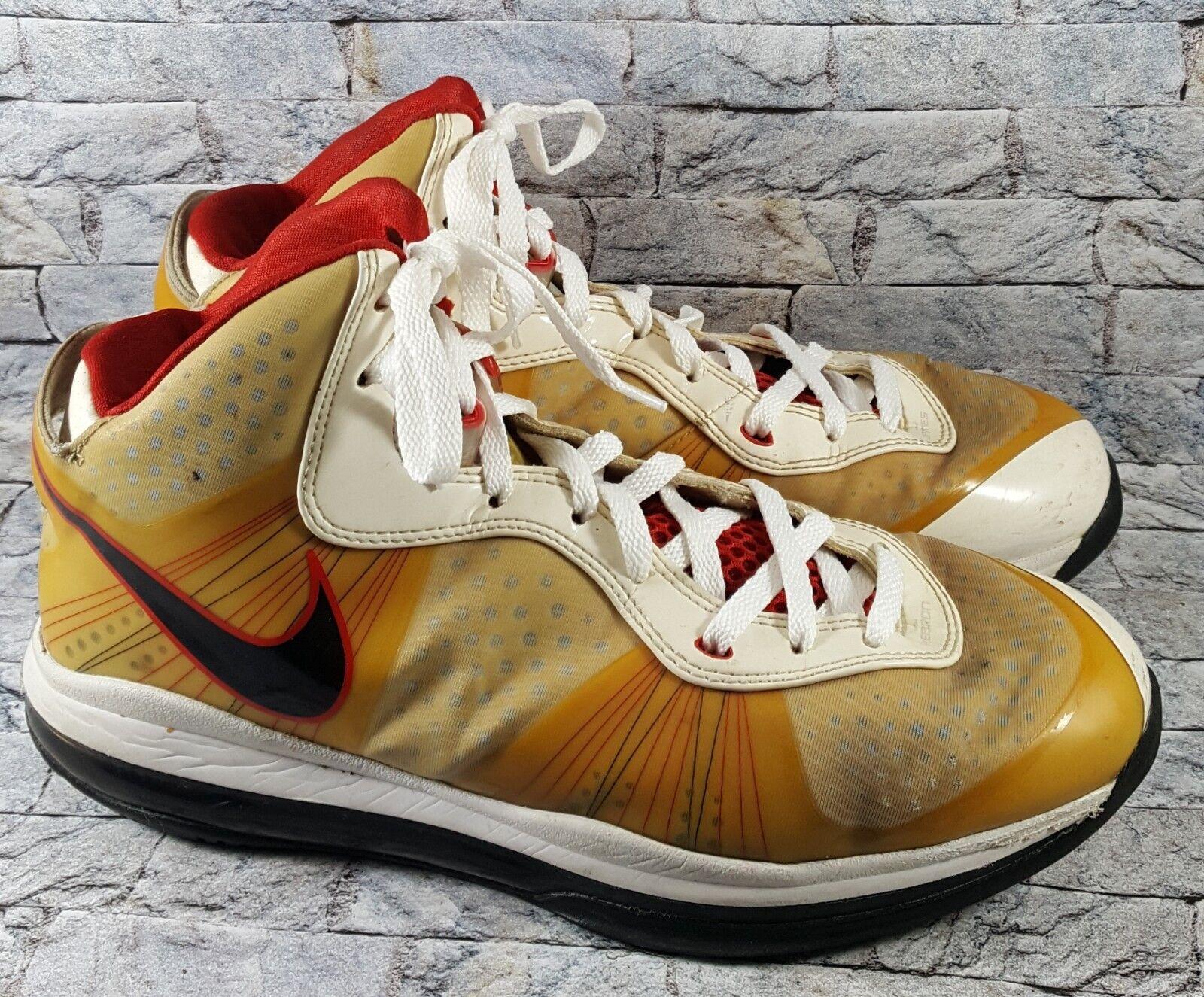 Nike Lebron VIII 8 V/2 Mens Mens V/2 White/Black/Red 429676-100 Basketball Shoes Sz 10.5 403157