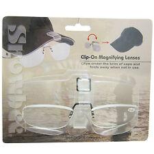 Snowbee Fishing Cap-Peak Clip-On Magnifier Glasses +2.5 Magnification