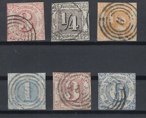 X2294-GERMANY-THURN-amp-TAXIS-1859-1864-USED-CLASSIC-LOT-CV-250