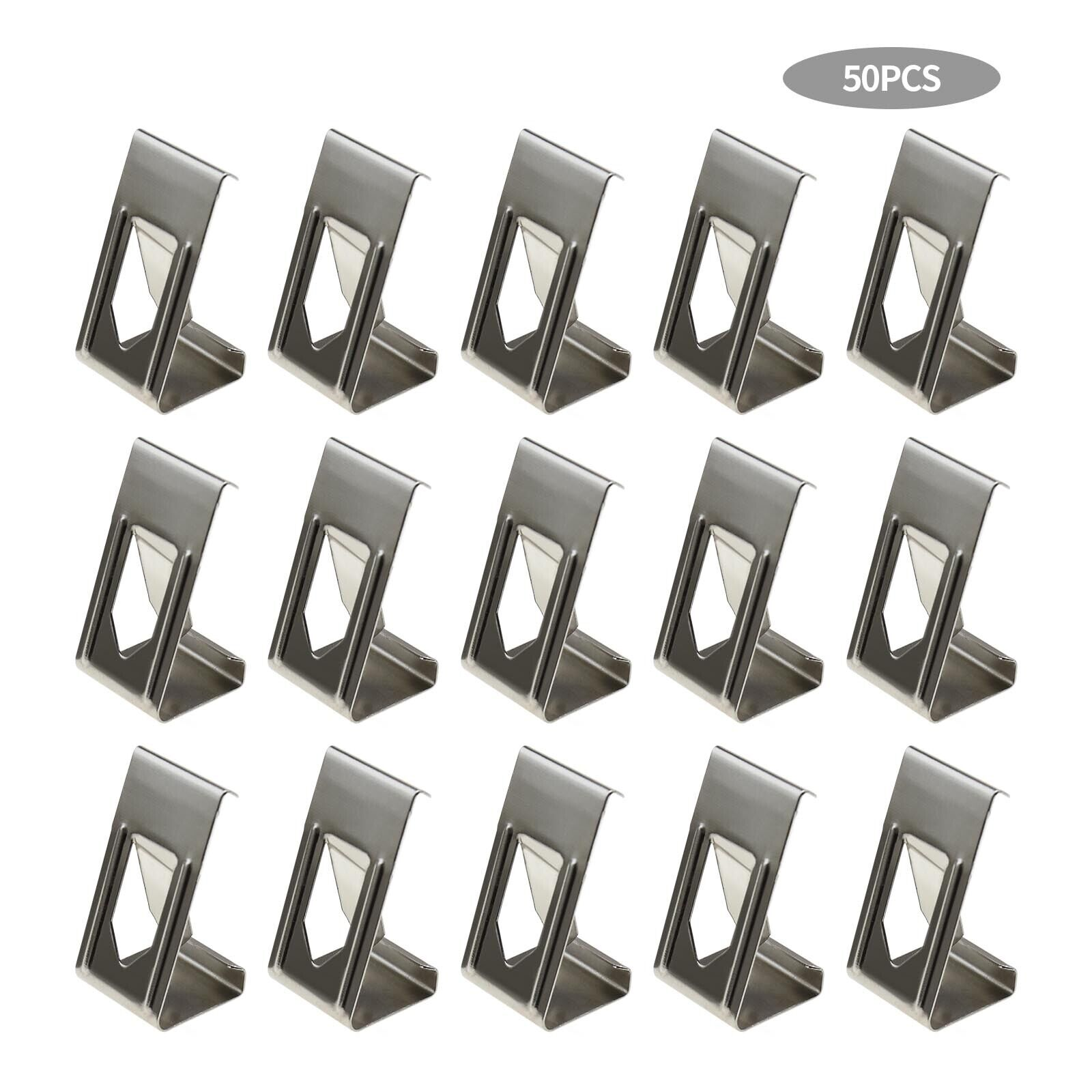 50Pcs 3D Printer Heated Bed Securing Clips Holder Metal Spring Turn Clamps