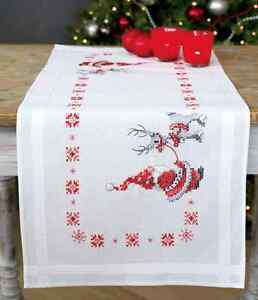 Christmas elves amp reindeer Table Runner kit  printed embroidery cross stitch kit - <span itemprop=availableAtOrFrom>Corby, NN18, United Kingdom</span> - Returns accepted within 7 days. Goods must be in condition as shipped. Most purchases from business sellers are protected by the Consumer Contract Regulations 2013 which give you the  - Corby, NN18, United Kingdom