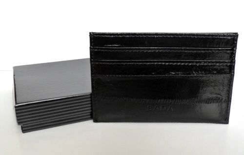 ID Card Holder Genuine Eel Skin Leather Credit Card Business Card
