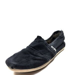 ba8efd361f0 Toms Classic Black Canvas Slip On Flats Shoes Women s Size 6.5 M