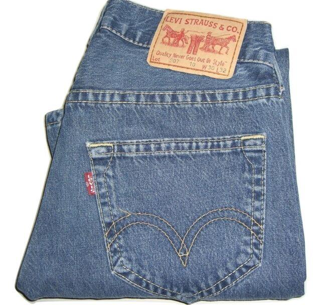 Jeans 907 Twisted Mens W30 Denim Levi's L32 Bootcut Blue Dark Ebay qnnHOAZ0