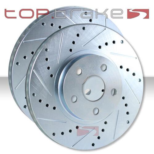REAR TOPBRAKES Performance Cross Drilled Slotted Brake Disc Rotors TB44195.121