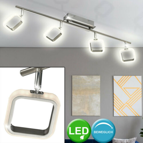 LED Spot Decken Lampe Chrom Schlaf Zimmer Leuchte dimmbar Strahler beweglich