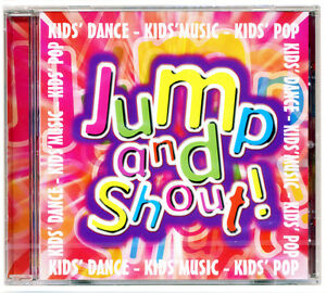 Jump-and-Shout-CD-18-Kids-Pop-Songs-Children-039-s-Party-Disco-NEW-amp-WRAPPED