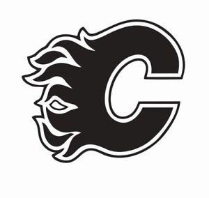 Calgary Flames Nhl Hockey Vinyl Die Cut Car Decal Sticker Free Shipping Ebay