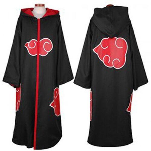 Akatsuki Cloak Hooded Itachi Sasuke Madara Cosplay Costume Hood Coat Robe