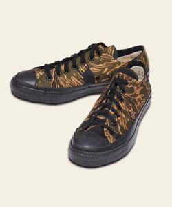 18c05266d07b Buzz Rickson s Golden Tiger-Stripe Camo Vintage-Style Sneakers SALE ...