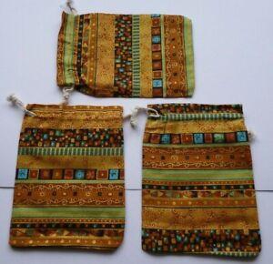Geschenke verpacken Ethnische Art Nr.6 Beutel 3 St.Stoff Säckchen