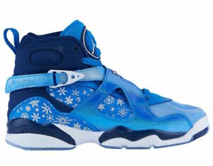 687b3e75f2d4 Nike Air Jordan 8 Retro GS SNOWFLAKE BLUE BLIZZARD WHITE 305368-400 ...