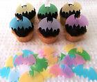 24 Edible Bat Batman Halloween Cupcake Topper Cake Decoration