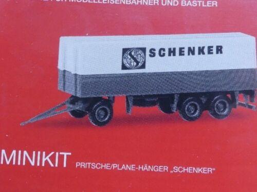 1//87 Herpa MiniKit Planen-Hänger 3-achs Schenker 013338
