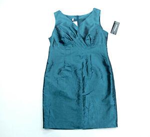 STEILAMNN Etui Business Kleid Damen dunkel grün Crash ...