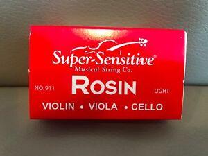 Low Dust Rosin for Violin Cello Bows 911 Light Super Sensitive No Viola