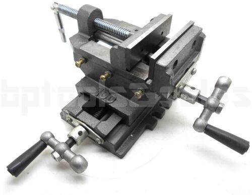 "4/"" CROSS DRILL PRESS Vise X-Y Clamp Heavy Duty Machine Slide Metal Milling 2 Way"
