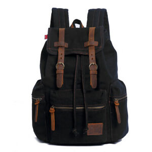2018-AUGUR-Fashion-Men-039-s-Backpack-Vintage-Canvas-Mochila-Feminina-Men-039-s-Travel-B