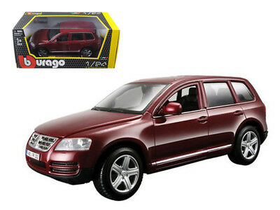 1/24 Bburago Volkswagen Touareg Burgundy Diecast Model Car Red 18-22015 Orders Are Welcome. Toys & Hobbies Other Vehicles