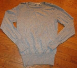 Forever-21-Women-039-s-Sweater-Pullover-Crew-Neck-Solid-Gray-Medium-NEW