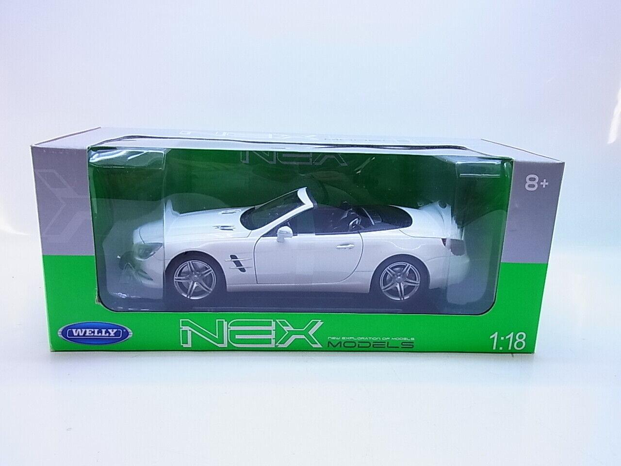 envio rapido a ti Lot 13347     Welly 190130 Mercedes-Benz SL 500 blancoo 2012 coche modelo 1 18 nuevo embalaje original  calidad oficial