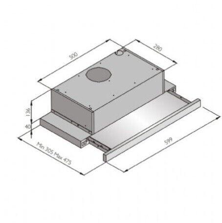 Silverline Crystal 60 cm, 1 motor