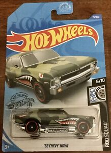 Details About 2020 Hot Wheels 68 Chevy Nova Rod Squad
