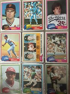 1981 TOPPS Baseball Cards.  Card #s 501-726.  You Pick to Complete Your Set