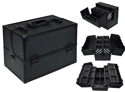 "Pro 14"" Makeup Aluminum Storage Case Organizer Box Cosmetic Lockable Jewelry Bag"