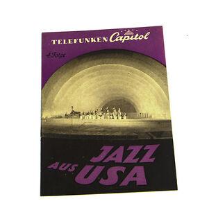 k124 Rational Telefunken Capitol Jazz Aus Usa 4.folge Katalog Top Zustand! Schellack