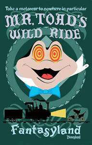 Disneyland-Mr-Toad-039-s-Wild-Ride-Poster-Disney-Fantasyland-Buy-Any-2-Get-1-Free