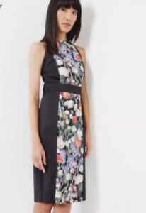 5e6bbba6c12a84 nEW Ted Baker Daysea Frill Bow Sleeve Dress in Iguazu Print sz 1 2 3 ...