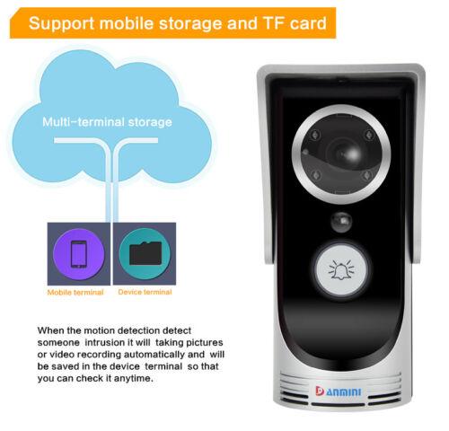DANMINI WiFi Remote Video Camera Door Phone Doorbell Install an APP on Mobile