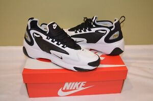 new products 6d4ce a705f Image is loading Nike-Zoom-2K-White-Black-Men-Shoes-Sneakers-