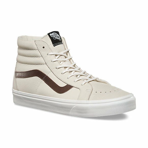 53c0104ad0e43e VANS Sk8 Hi Reissue Leather Blanc De Blanc potting Soil Men s Shoes 8 for  sale online