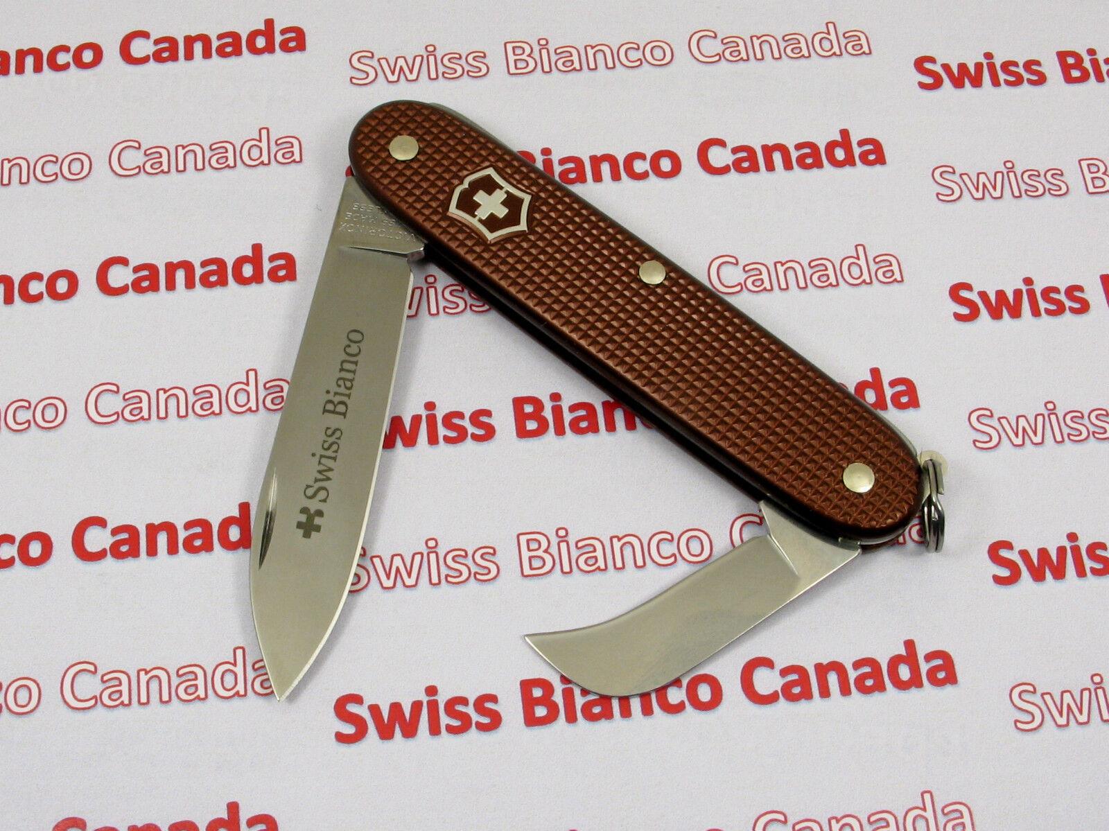 Swiss Bianco Exclusive Victorinox Pruner Chocolate Brown Alox Swiss Army Knife