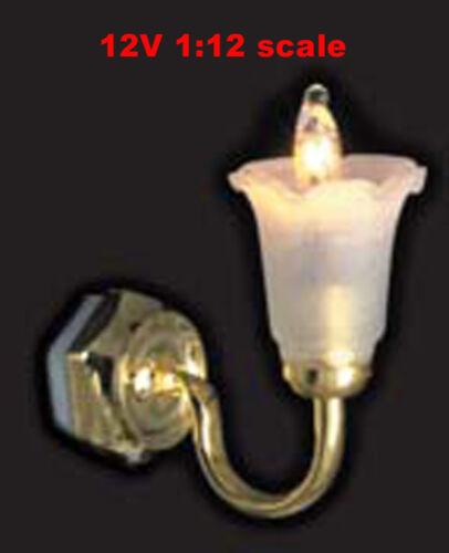 Clearance SALEtulip Sconce wall Lamp12v dollhouse miniature1:12 light