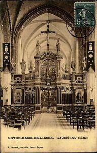Notre-Dame-de-Liesse-Frankreich-France-1910-Kirche-Eglise-Church-Altar-gelaufen