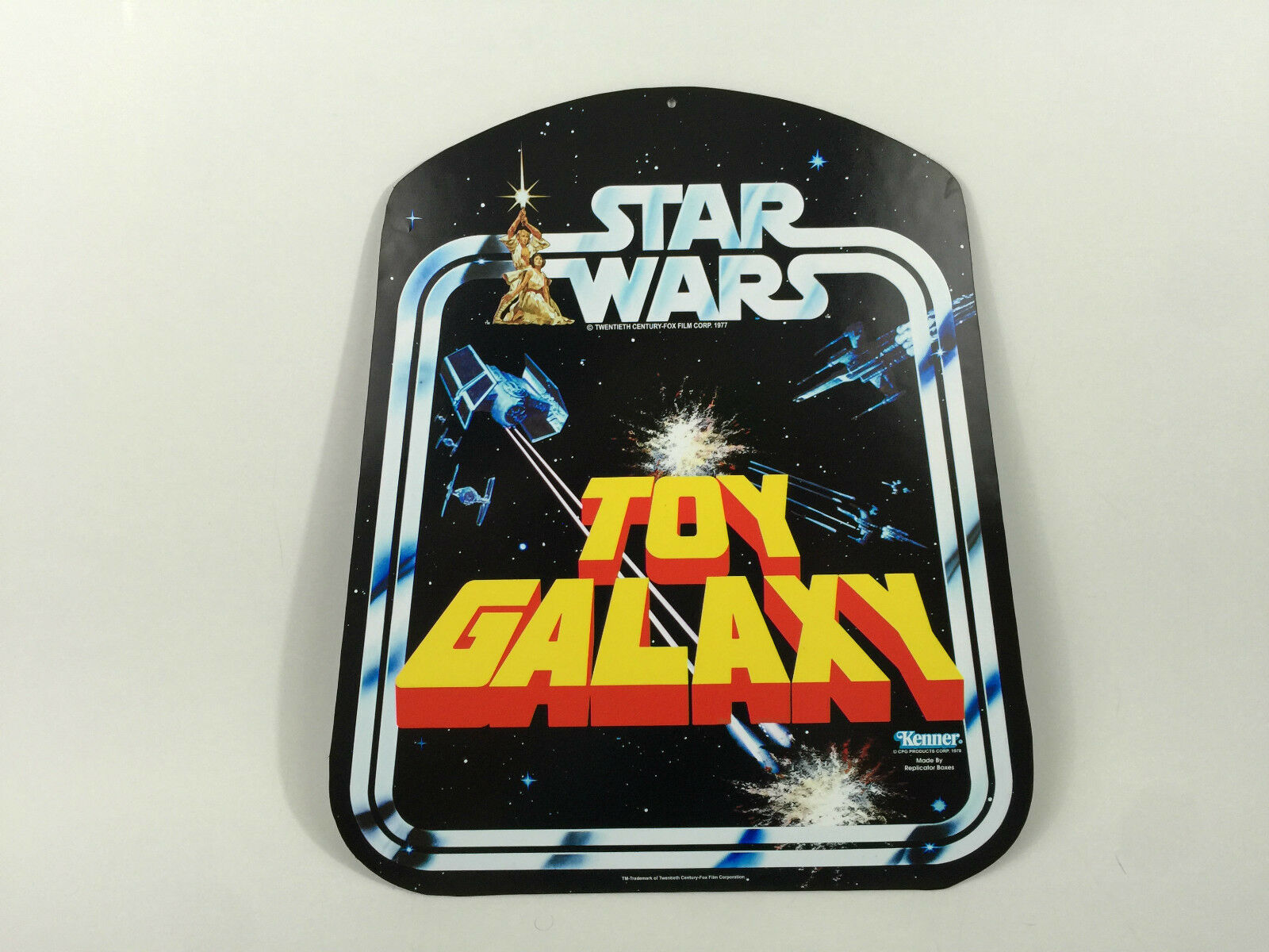 Reproduction vintage star wars toy galaxy shop   store hanger bell display