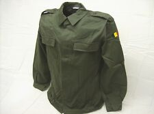 Belgian army surplus 1990s military issue dark green uniform shirt 40 to 42 Long