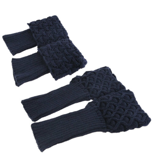 Womens Warmers Knitted Boots Trim Leg Cuffs Crochet Knee Fur Ankle Socks Toppers