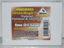 Gentle Magic Natural Oatmeal & Glycerin Exfoliating Emu Oil Soap Fragrance Free