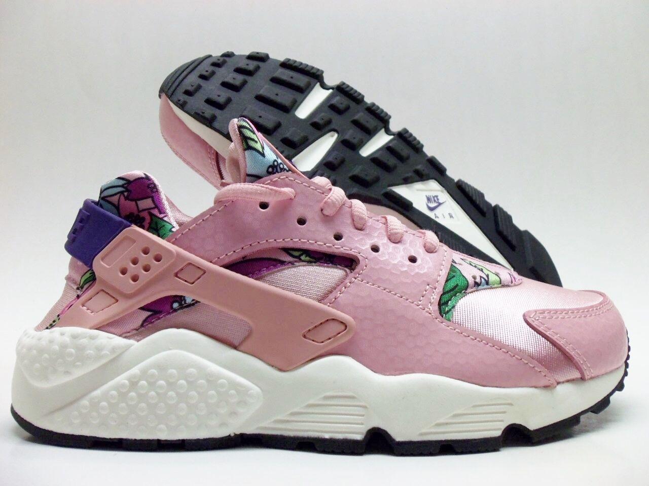 Nike Air huarache Run Print Rosa esmalte / purpel-Negro Talla de mujer 8 de reducción de Talla precio c281ad