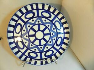 Dansk-Arabesque-Sri-Lanka-Phillipines-11-034-Deep-Round-Platter-Blue-Abstract