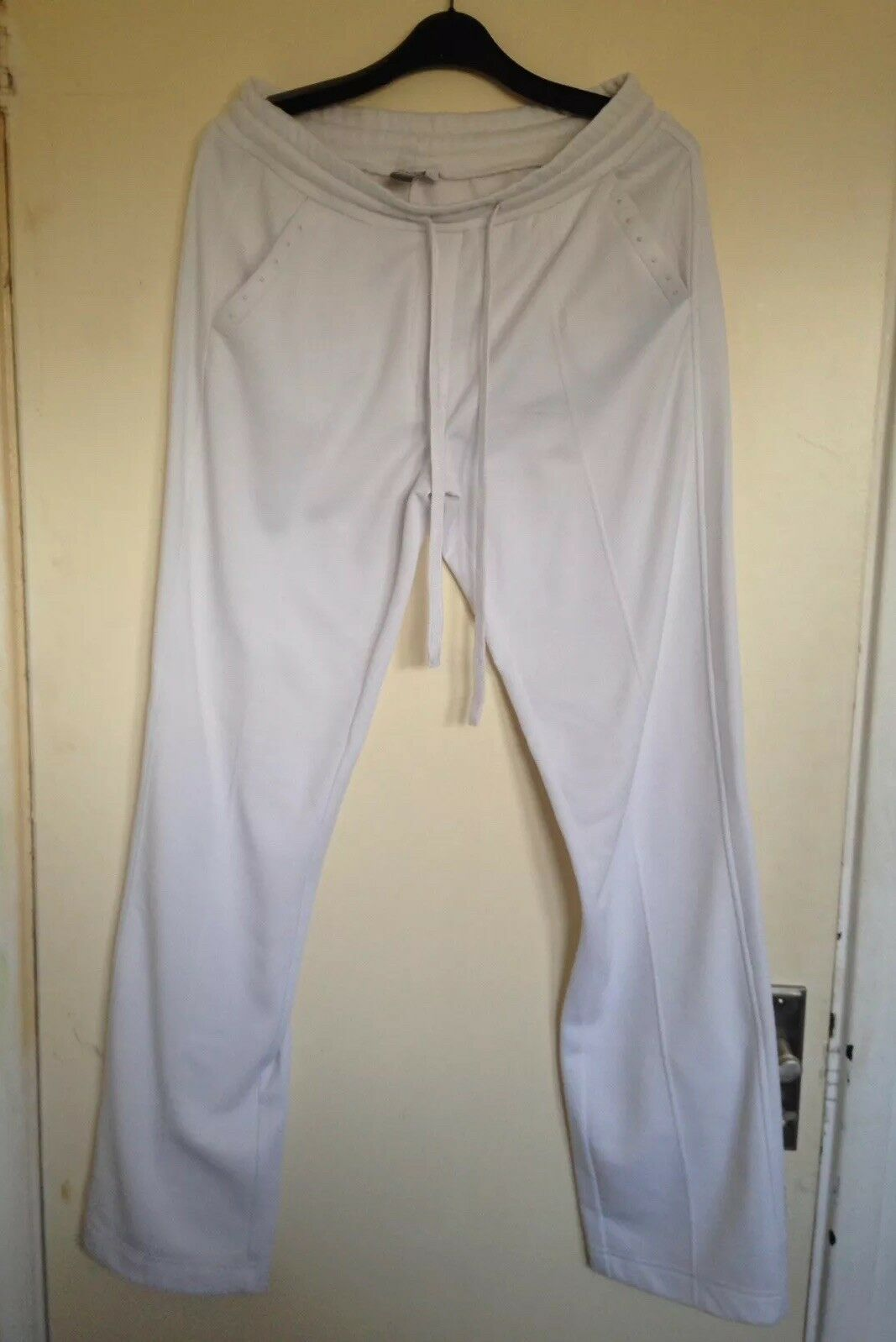Ladies Luhta White Beaded Trousers Size 10
