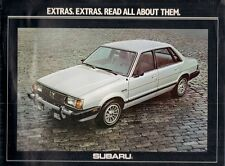 Subaru Accessories 1980 USA Market Sales Brochure Saloon Hatchback Estate Brat
