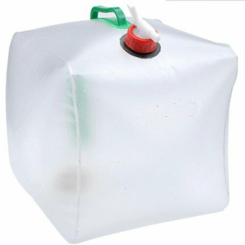 PVC Large Collapsible Drinking Water Bag Foldable Water Carrier Container CS