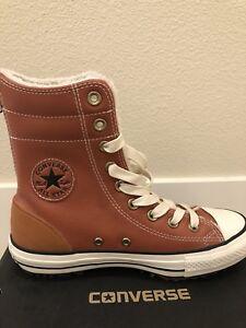 Details about Converse NIB CTAS Hi rise Leather Boot Women's 6 Men's 4